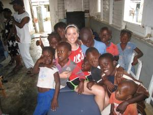 jordan and the childrena of haiti